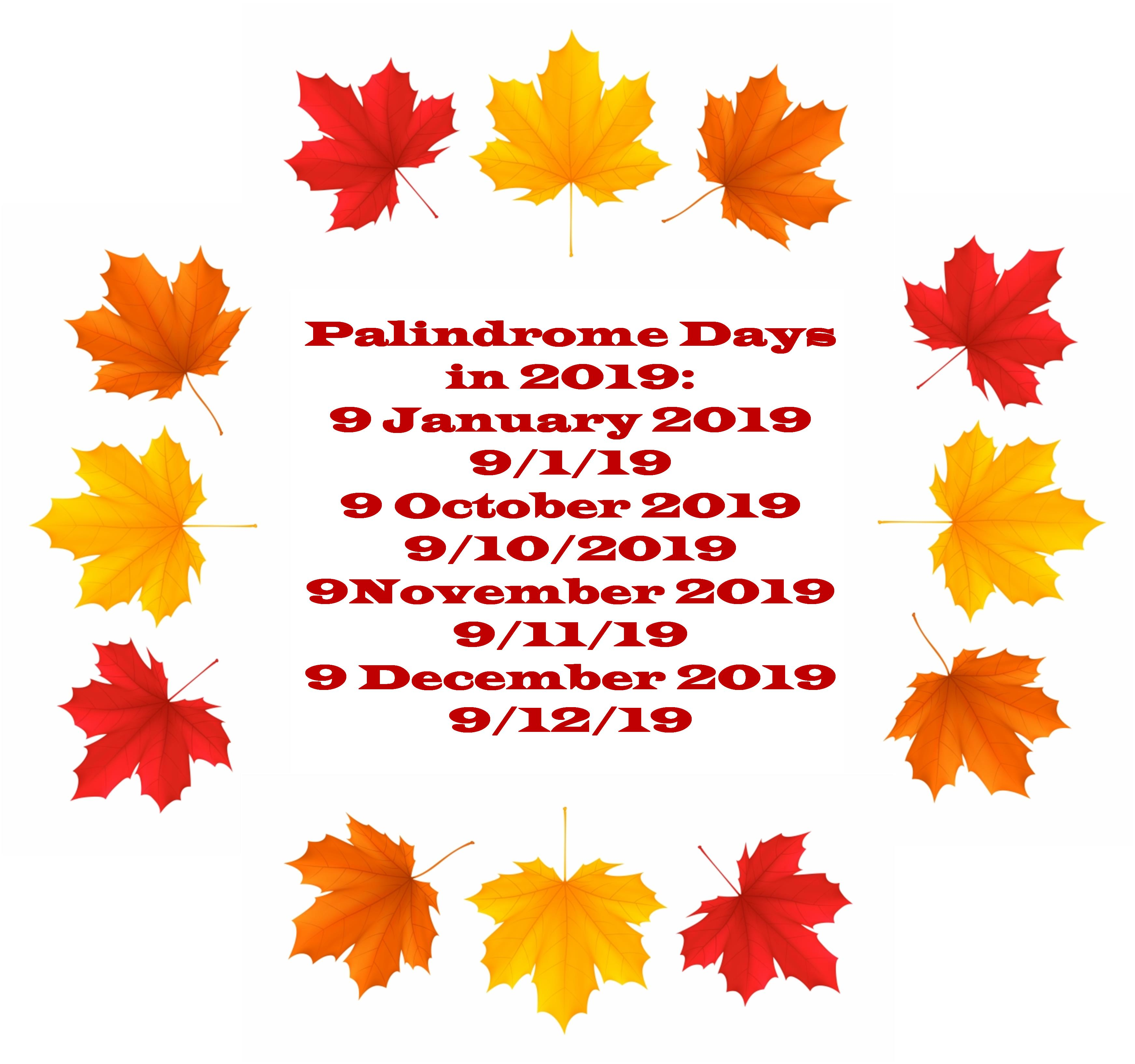 Palindrome Dates St Century